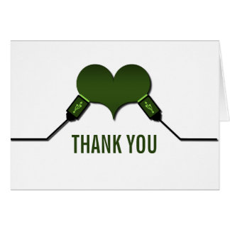 Love Connection USB Thank You Card, Green Card