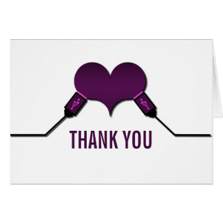 Love Connection USB Thank You Card, Purple Card