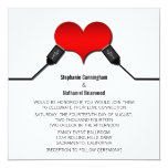Love Connection USB Wedding Invitation, Red