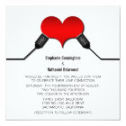 Love Connection USB Wedding Invitation, Red Card