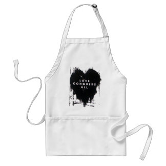 Love Conquers All Adult Apron