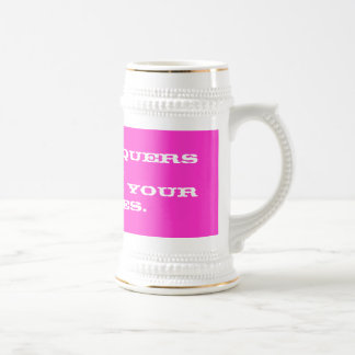 Love conquers all. beer stein