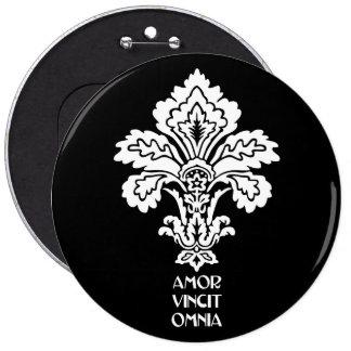 Love Conquers All (black-white) Pinback Button