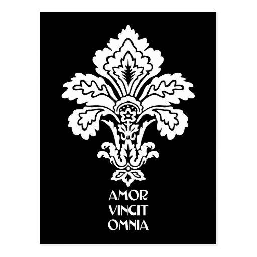 Love Conquers All (black-white) Postcard