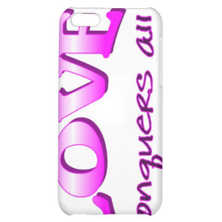 Love conquers all Christian saying Cover For iPhone 5C