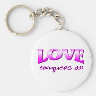 Love conquers all Christian saying Keychain