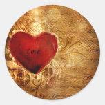 Love Conquers All Classic Round Sticker