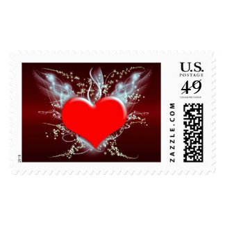 LOVE CONQUERS ALL! (heart design) ~.jpg Postage