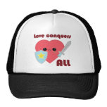 Love Conquers All Kawaii Heart hat