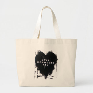 Love Conquers All Large Tote Bag