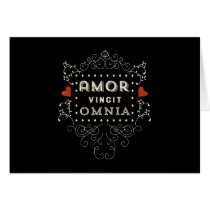 Love Conquers All - Latin Vintage Typography Card