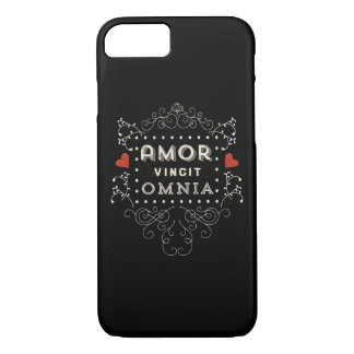 Love Conquers All - Latin Vintage Typography iPhone 7 Case