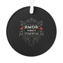 Love Conquers All - Latin Vintage Typography Ornament