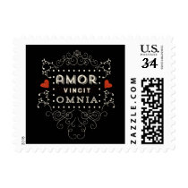 Love Conquers All - Latin Vintage Typography Postage