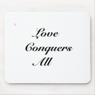 love conquers all mouse pad