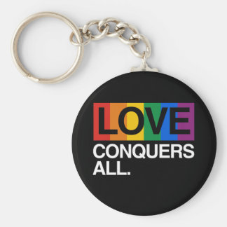 LOVE CONQUERS ALL -.png Keychain