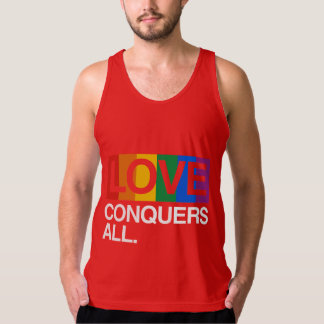 LOVE CONQUERS ALL -.png Tank Top