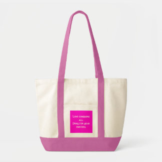 Love conquers all. tote bag