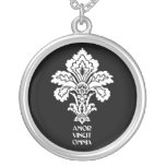 Love Conquers All - white Personalized Necklace