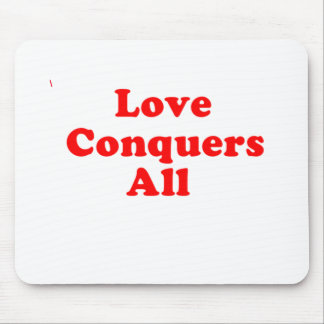 love conquers mouse pad