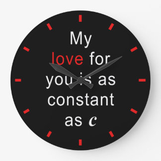 Love Constant As C Large Clock