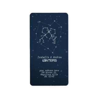 Love Constellation  Address Label