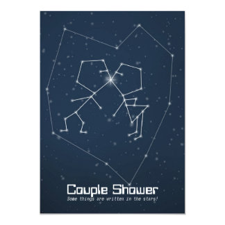 Love Constellation Couple Shower Card