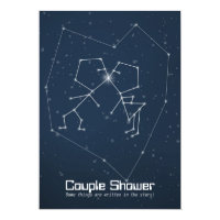 Love Constellation Couple Shower Invitation