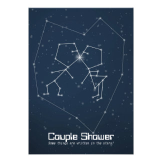 Love Constellation Couple Shower Invites