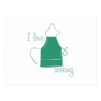 Love Cooking Postcard