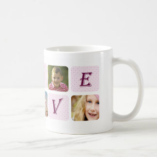 Love Coolest Mom Ever Custom Photo Collage Coffee Mug