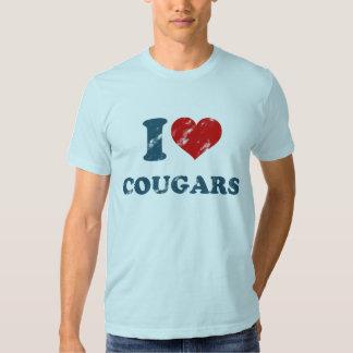 Love Cougars Vintage T Shirt