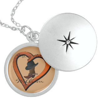 LOVE Country Boot & Hat LOCKET Personalized