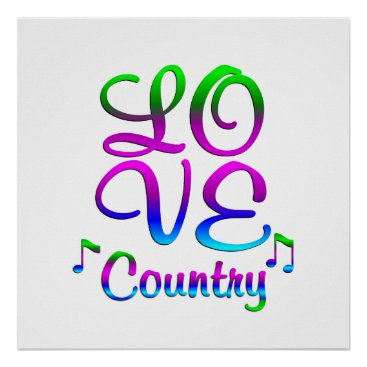 Art Themed LOVE Country Music Poster