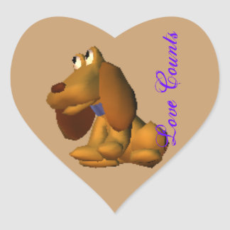 Love counts heart sticker
