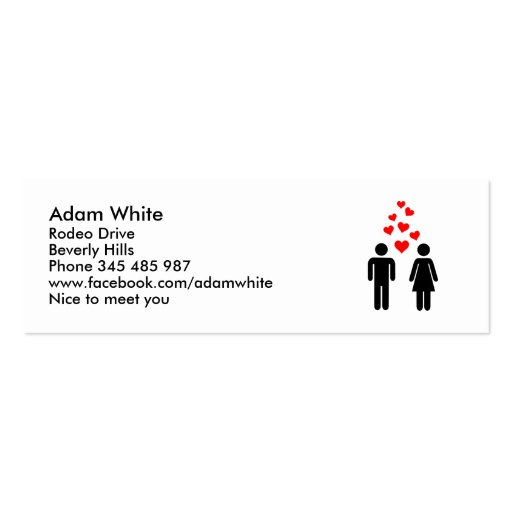 Love couple business card template