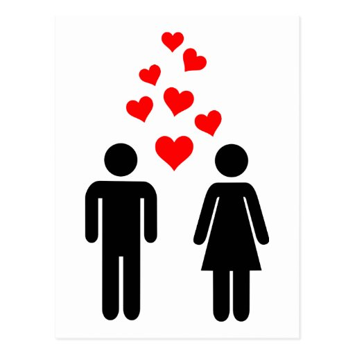 Love couple postcard