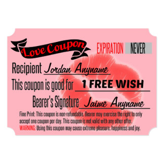 Love Coupon for FREE WISH Card