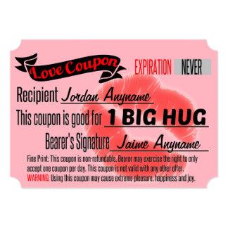 Love Coupon for One BIG HUG Card