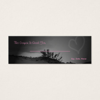 Love Coupon Mini Business Card
