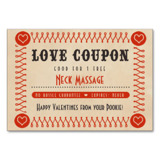 Love Coupons for Couples Valentines or Anniversary Card