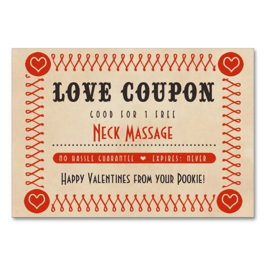 Love coupons for couples valentines or anniversary card - Code promo paul valentine ...