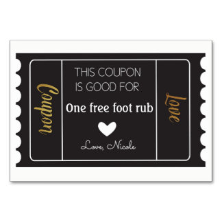 Love Coupons in Black and Gold Card