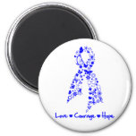 Love Courage Hope Butterfly -  Anal Cancer Refrigerator Magnets