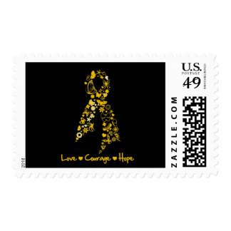 Love Courage Hope Butterfly -  Appendix Cancer Postage
