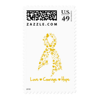 Love Courage Hope Butterfly -  Appendix Cancer Stamps