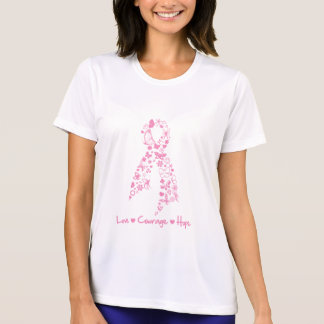 Love Courage Hope Butterfly - Breast Cancer 2 Tshirts