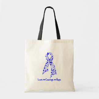 Love Courage Hope Butterfly -  Colon Cancer Tote Bag