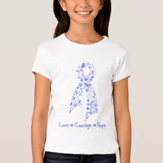 Love Courage Hope Butterfly - Esophageal Cancer T-Shirt