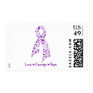 Love Courage Hope Butterfly - GIST Cancer Stamp